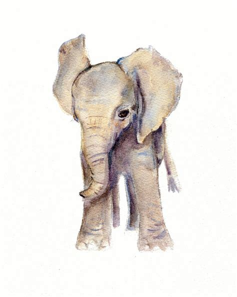 elephant nursery decor watercolor painting elephant print elephant watercolor print
