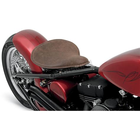 distressed brown leather motorcycle seat drag specialties large low distressed brown leather
