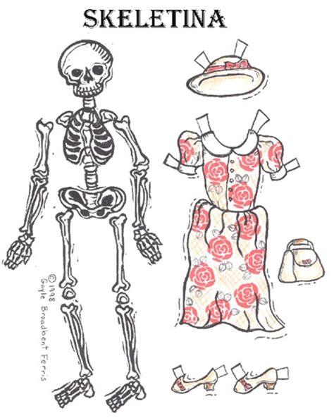 imagenes de calaveras recortables recortables halloween vestir el esqueleto
