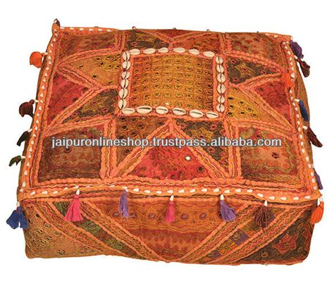 jaipur market ottoman indian handmade vintage sari quilt maharaja chair sofa
