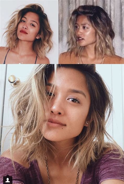 how to achieve dark roots hair style razor long bob cut with dark roots and blonde ends