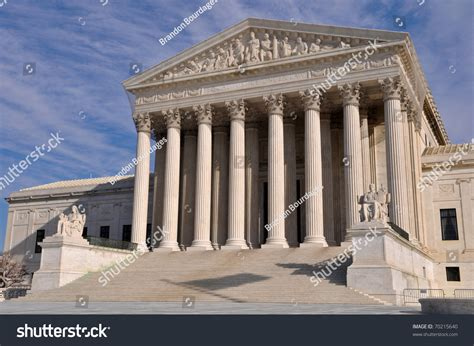 Dc Court Search Us Supreme Court Building In Washington Dc Stock Photo