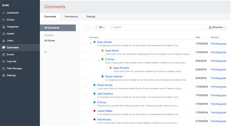 Engram Design Comments A Craft Cms Plugin For Managing Comments Directly Within The Cms By Craft Cms Templates
