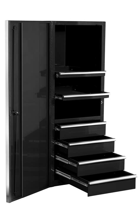 Tall Black Metal Garage Storage Cabinet With Drawers Metal Cabinets For Garage Storage
