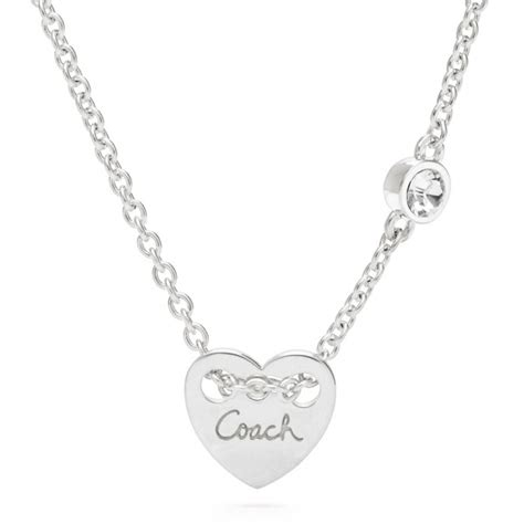 coach sterling charm necklace in silver silver