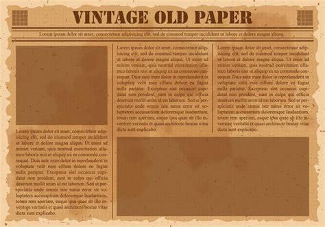 Old Vintage Newspaper Download Free Vector Art Stock Graphics Images Vintage Newspaper Template