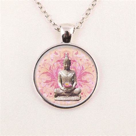 wholesale pendants for jewelry wholesale pendant for necklace sliver glass buddha necklace buddhist jewelry glass picture