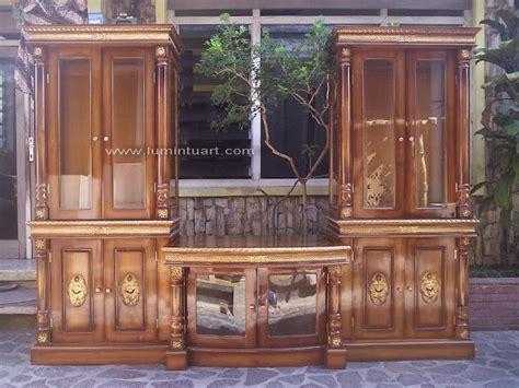 Bufet Tv Meja Tv Bunga Mawar almari bufet hias tv pajangan ukiran mawar kayu jati jepara ud lumintu gallery furniture