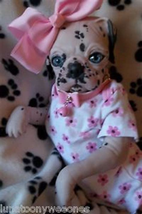 puppy monkey baby doll reborn dalmation puppy doll ooak pup baby princess pug monkey ebay