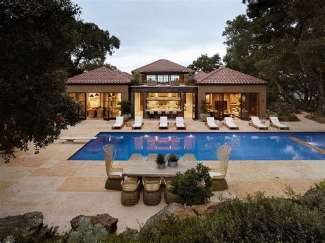 mediterranean house plans with pool mediterranean pool by ken linsteadt architects forget