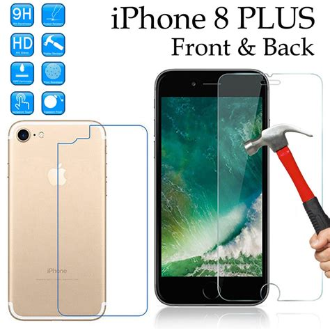 9h tempered glass screen protector for apple iphone 8 plus front ant pricedumb