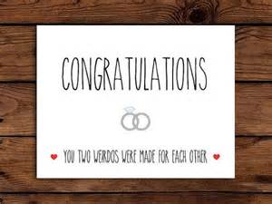 wedding card printable congratulations card engagement card you two weirdos were