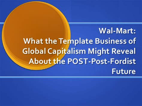 Walmart And Natural Capitalism Walmart Powerpoint Template
