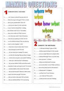 23 free esl questions worksheets