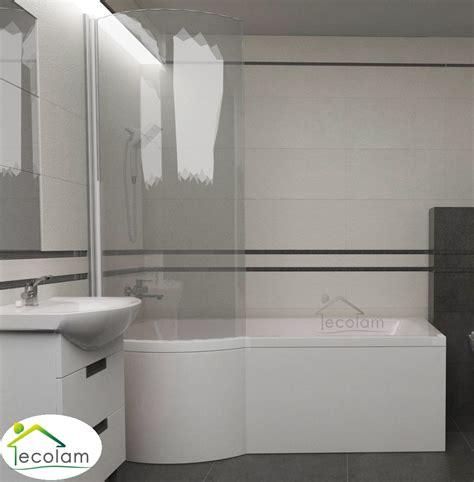 badewanne set set badewanne badewannenabtrennung duschwand eckig