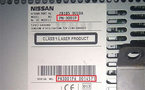 how to get radio code for ford nissan clarion radio code label