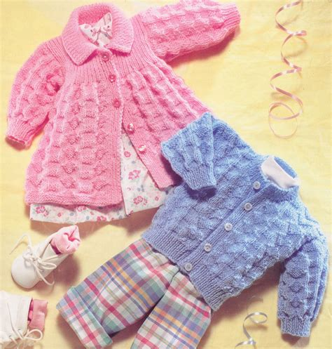 download knitting pattern uk vintage baby matinee coat cardigan dk knitting pattern