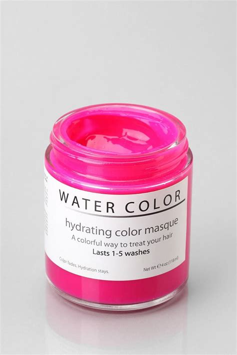 water color hydrating hair color mask hair dyed