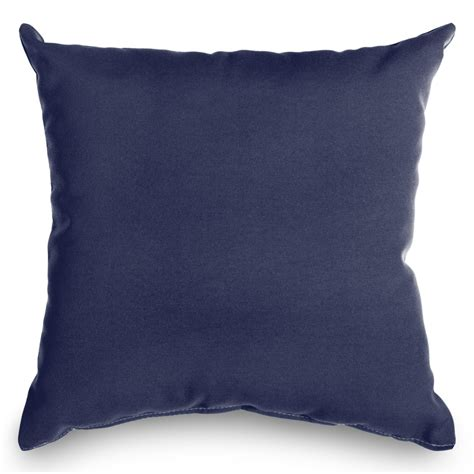 navy sunbrella outdoor throw pillow dfohome