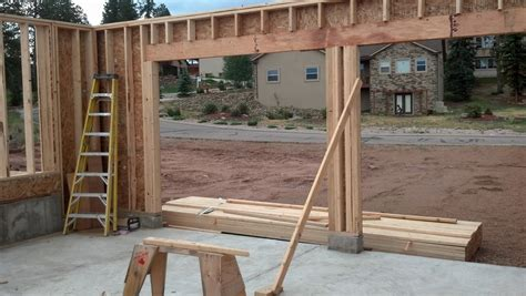 framing a garage door stannard log home garage
