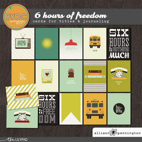 Freedom Gift Card - element packs digital scrapbooking elements the lilypad
