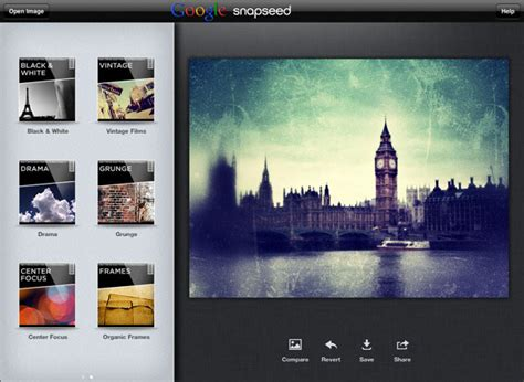 google snapseed tutorial google snaps up snapseed now ready to battle facebook s