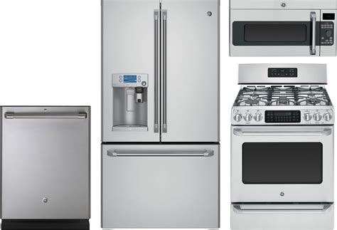 Kitchen And Laundry Appliance Packages by Ge Cafe 4 Kitchen Package With Cgs985setss Gas Range