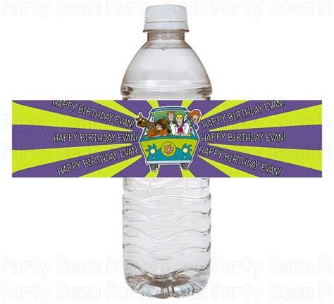 water scooby doo scooby doo mystery machine water bottle labels birthday digi