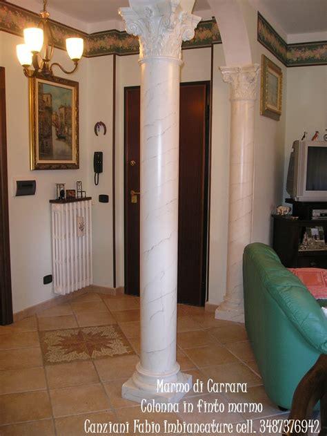 colonne in marmo per interni esecuzione di finto marmo di carrara canziani fabio