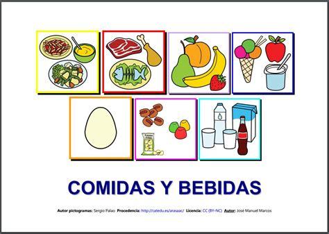 pictogramas alimentos inform 225 tica para educaci 243 n especial quot vocabulario comidas
