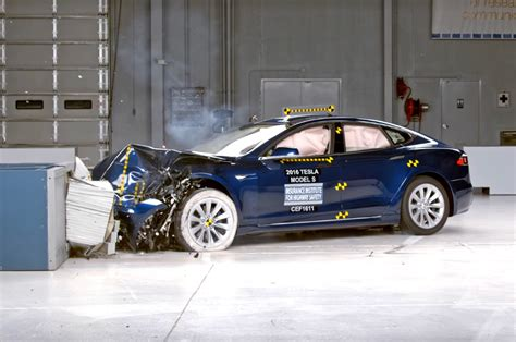 Tesla Model S Crash Test Tesla Model S Crash Test Result Misses Top Safety Rating