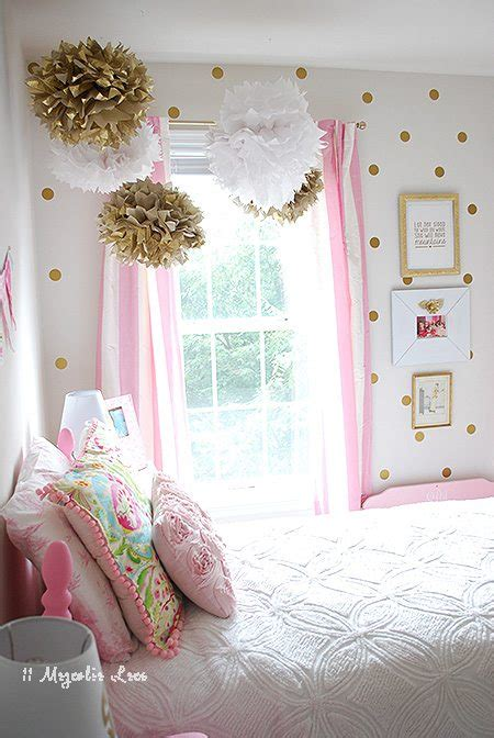 little girls bedroom curtains little girl s room decorated in pink white gold 11