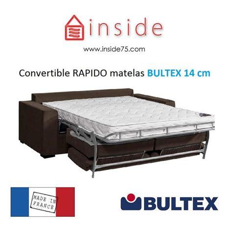 matelas canapé lit bultex canap 233 lit avec matelas bultex