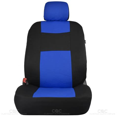 split bench seat cover blue car seat covers set split bench option 5 headrests w