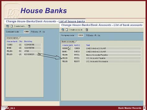 inhouse bank sap fi create bank records http sapdocs info