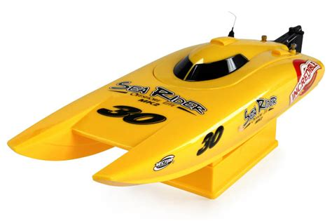 rc boat long battery life rc sea rider catamaran 2 4ghz boat