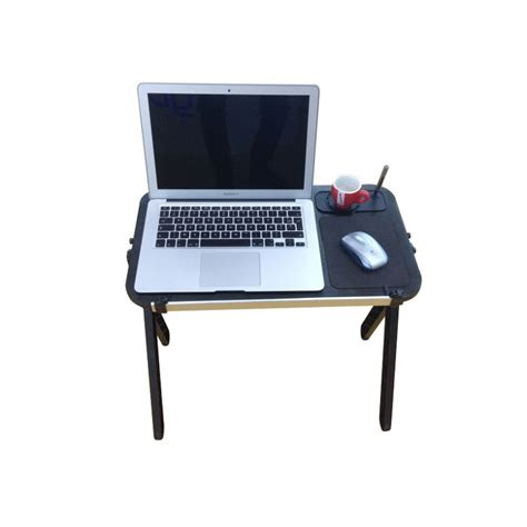 Folding Laptop Desk Aluminum Laptop Table With Mouse Pad Cup And Pen Holder