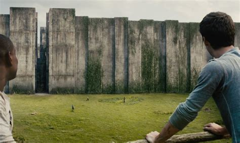 maze runner film tnt village first the maze runner clip introduces the wall bloody
