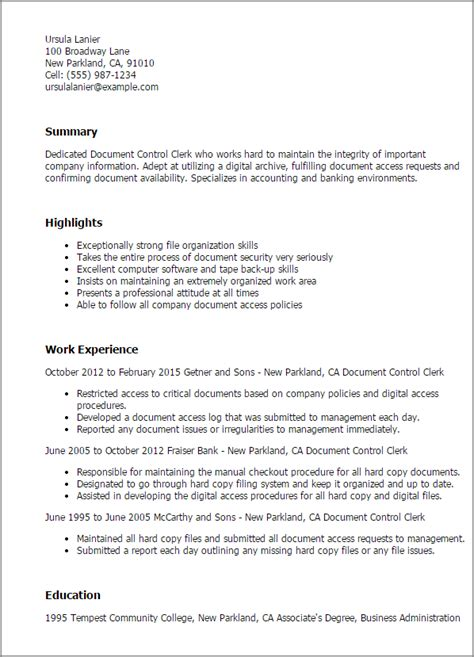 resume document template professional document clerk templates to showcase
