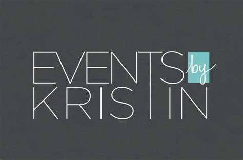 typography modern events by kristin s stylish new brand identity and site doodle creative