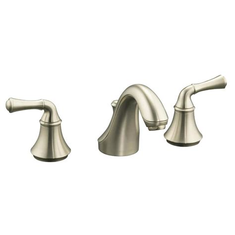 shop kohler forte vibrant brushed nickel 2 handle