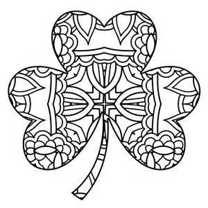 small shamrock coloring page collections