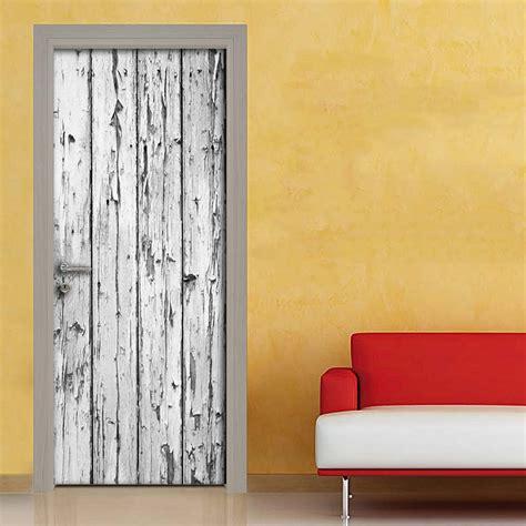 porte shabby chic effetto vintage legno rovinato adesivo per porta