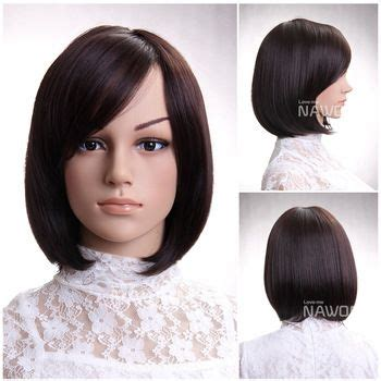 neck length bob with a side swept fringe and an angled parting 26 best hair extension clip ins images on pinterest