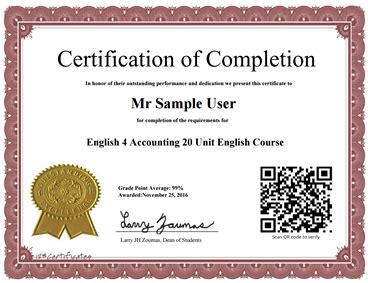 Post Mba Accounting Certificate by For Accounting Course