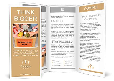 People Bring Food Into The Donation Box Brochure Template Design Id 0000008531 Donor Newsletter Template