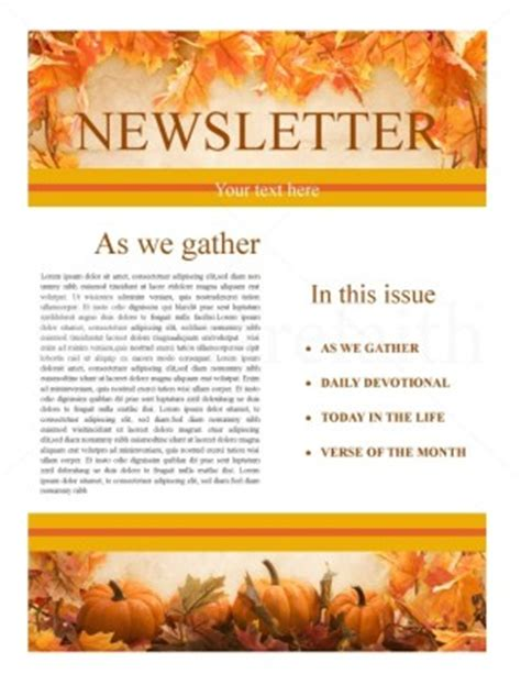 free november newsletter templates november 2009 sharefaith magazine