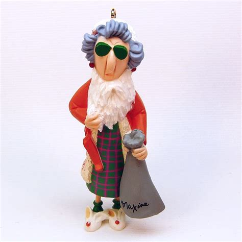 hallmark maxine 1993 christmas ornament qx5385 dressed as