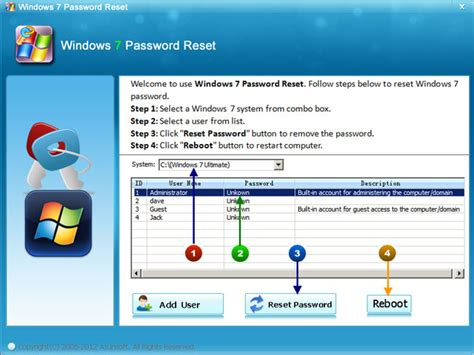 Windows 7 Multi User how to create a multi function windows 7 password reset disk reset windows password