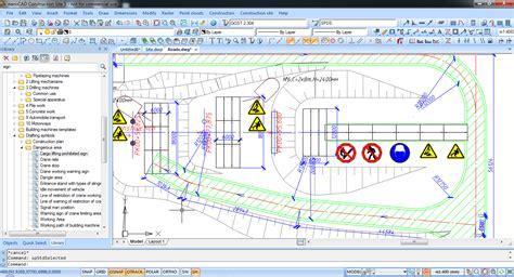 job site layout plan nanocad construction site